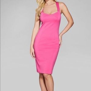 Marciano Adeli Pink Knot Back Bodycon Dress - S